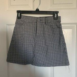 gingham pacsun mini skirt